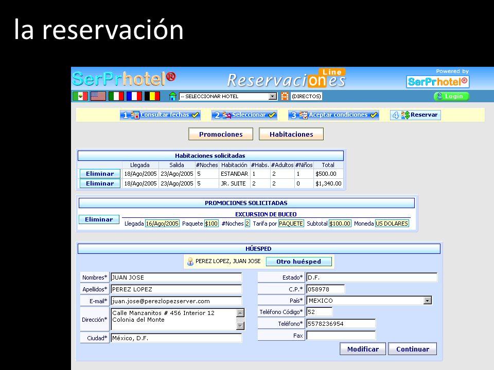 la reservación