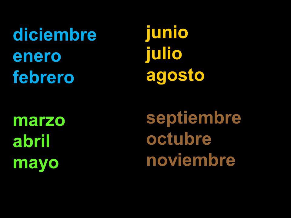 junio julio agosto septiembre octubre noviembre diciembre enero febrero marzo abril mayo