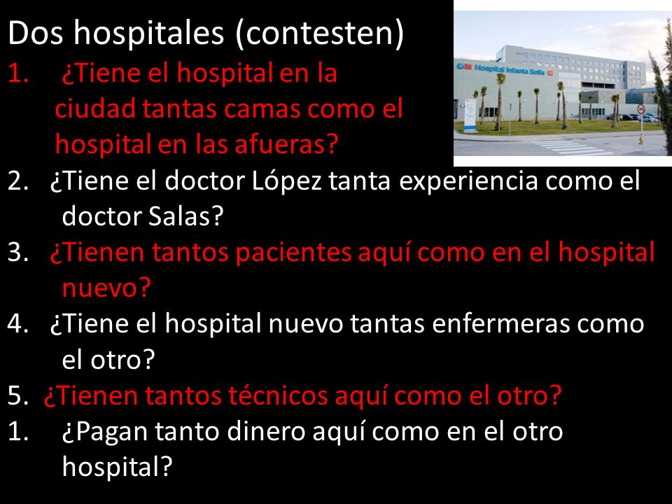 Dos hospitales (contesten)
