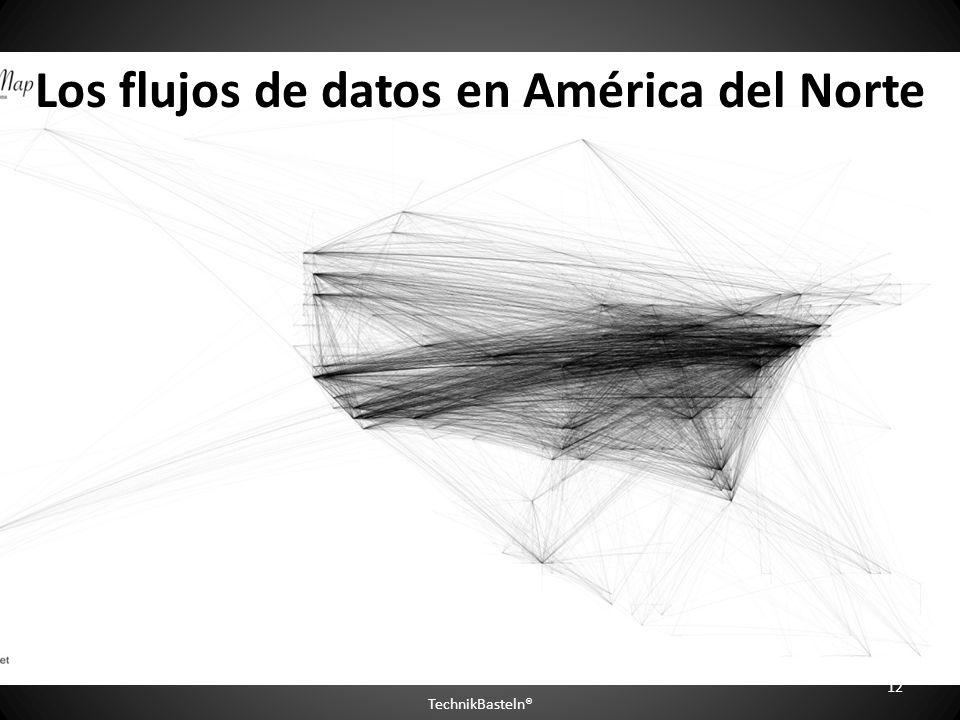 Los flujos de datos en América del Norte