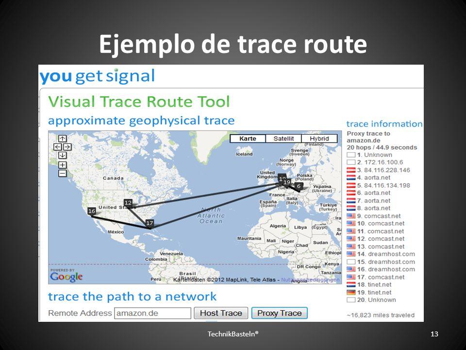 Ejemplo de trace route TechnikBasteln®