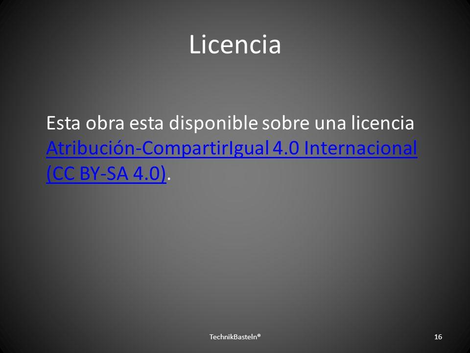 Licencia Esta obra esta disponible sobre una licencia Atribución-CompartirIgual 4.0 Internacional (CC BY-SA 4.0).