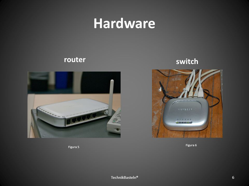 Hardware router switch Figura 6 Figura 5 TechnikBasteln®