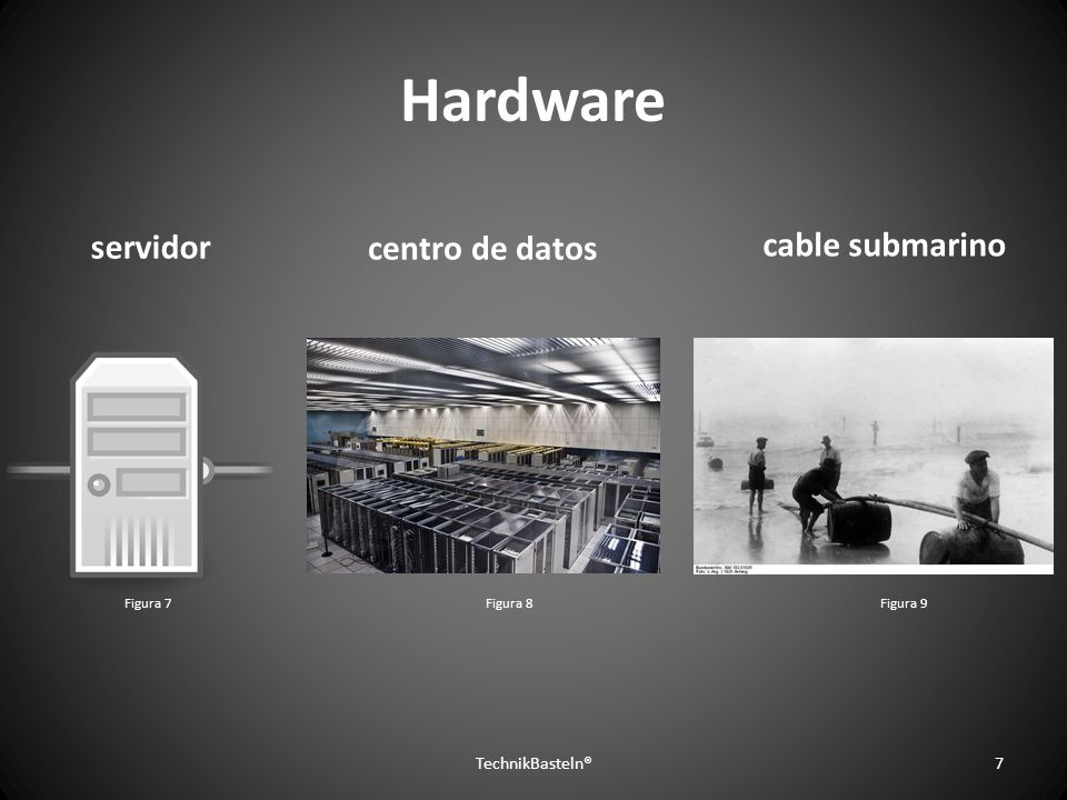 Hardware servidor cable submarino centro de datos TechnikBasteln®