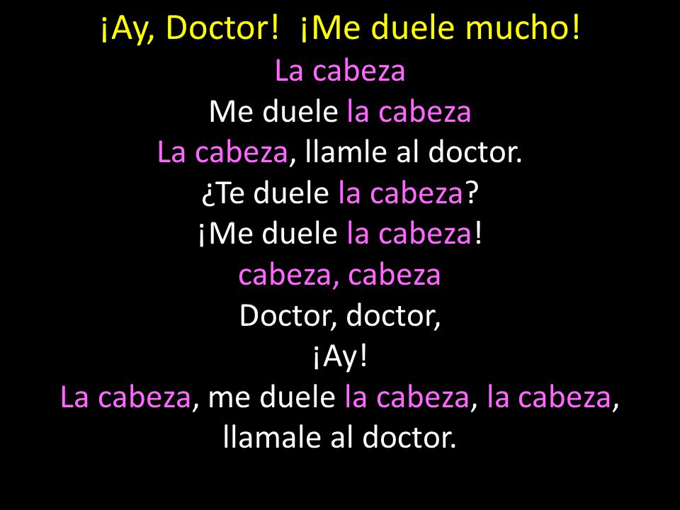 ¡Ay, Doctor! ¡Me duele mucho!