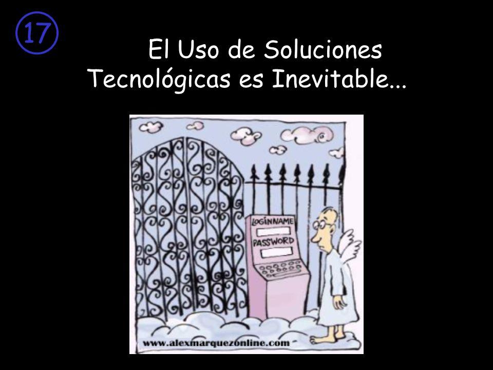 El Uso de Soluciones Tecnológicas es Inevitable...