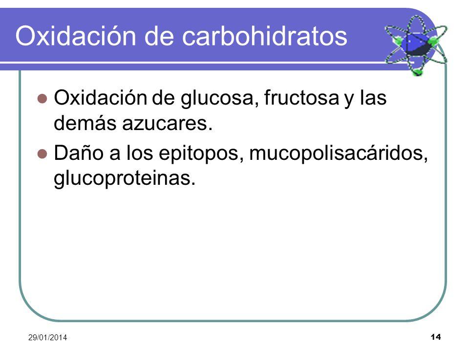 Oxidación de carbohidratos