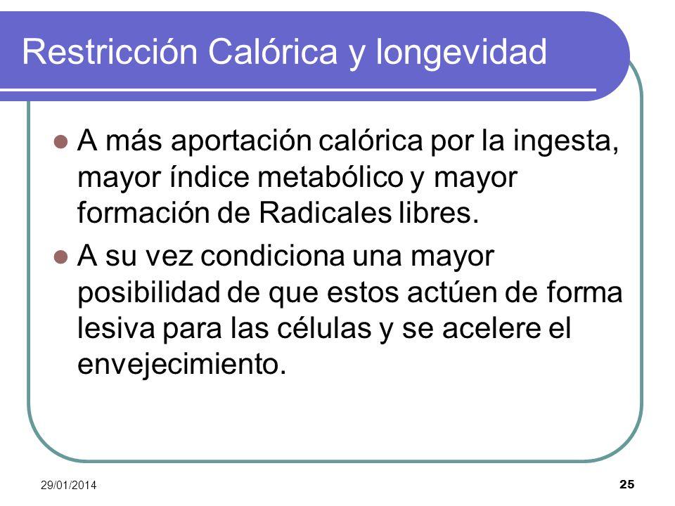 Restricción Calórica y longevidad