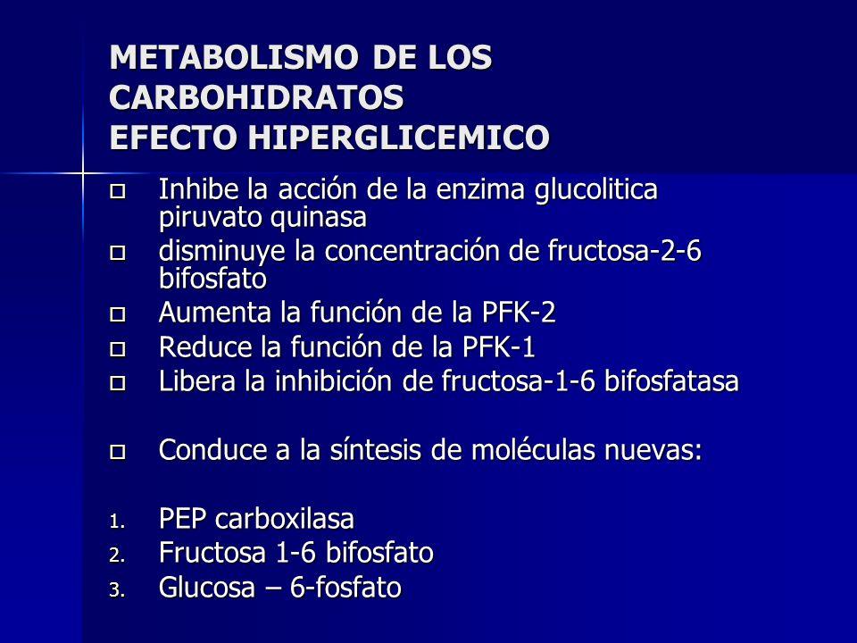 METABOLISMO DE LOS CARBOHIDRATOS EFECTO HIPERGLICEMICO