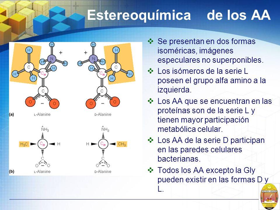 Estereoquímica de los AA