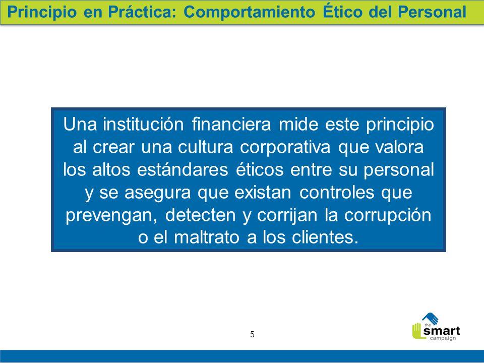 Principio en Práctica: Comportamiento Ético del Personal