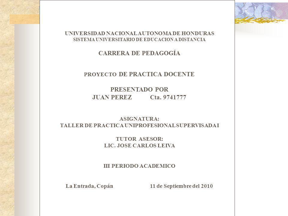 PRESENTADO POR JUAN PEREZ Cta. 9741777