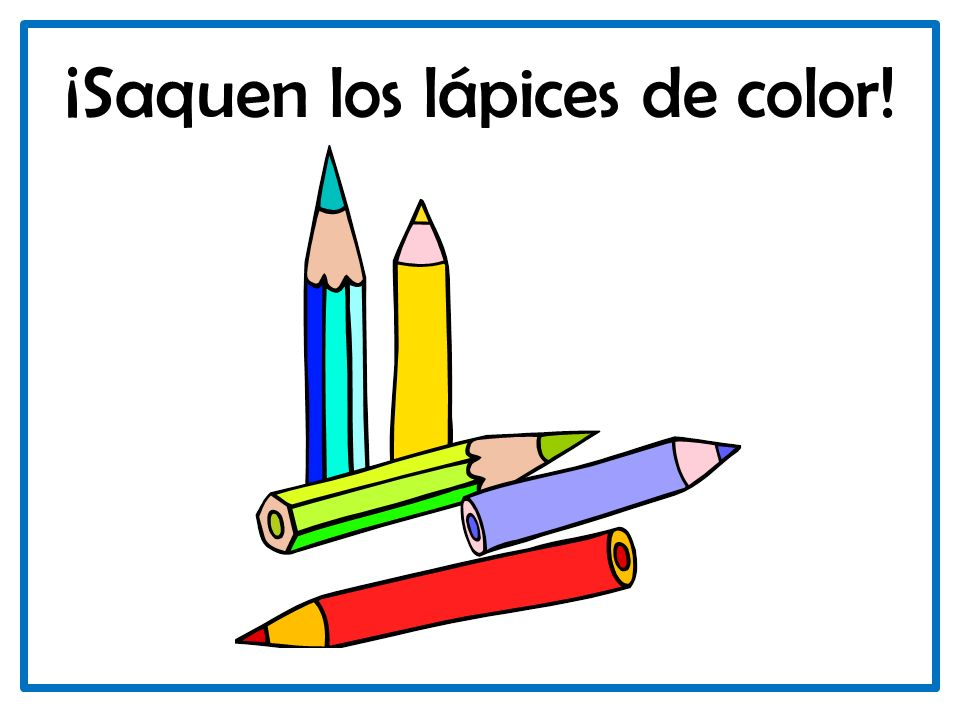 ¡Saquen los lápices de color!
