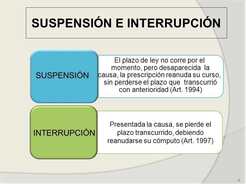 SUSPENSIÓN E INTERRUPCIÓN