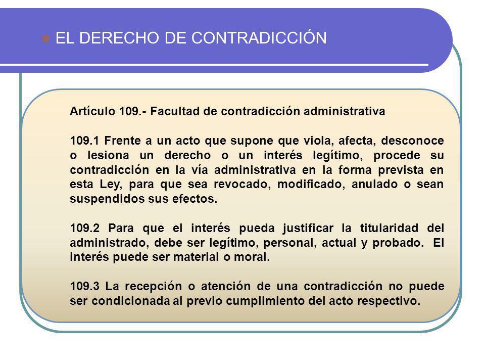 EL DERECHO DE CONTRADICCIÓN