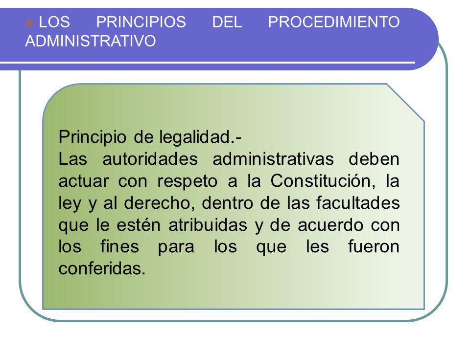 Principio de legalidad.-