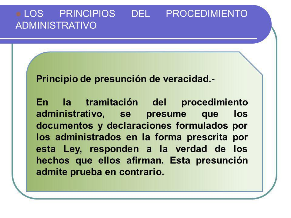 LOS PRINCIPIOS DEL PROCEDIMIENTO ADMINISTRATIVO