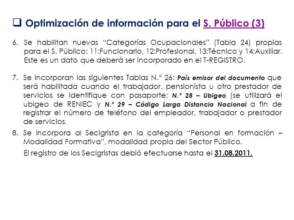 Optimización de información para el S. Público (3)