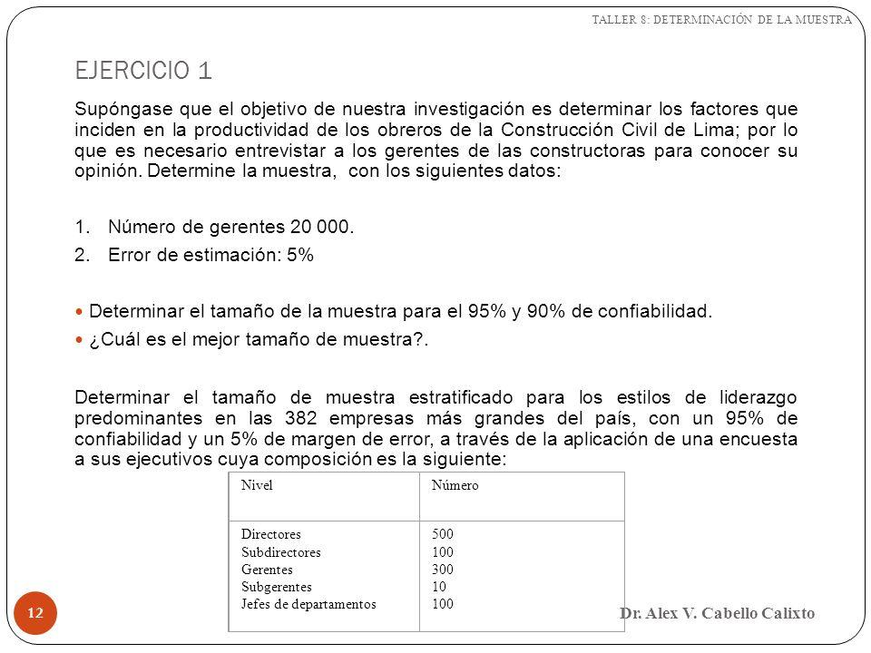 TALLER 8: DETERMINACIÓN DE LA MUESTRA