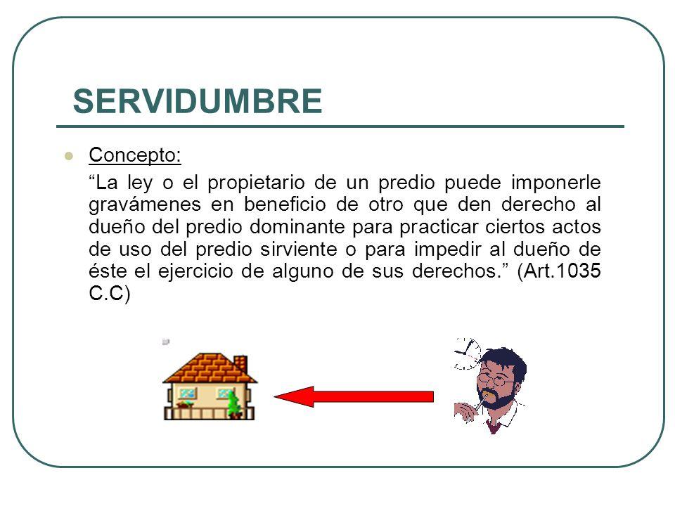 SERVIDUMBRE Concepto: