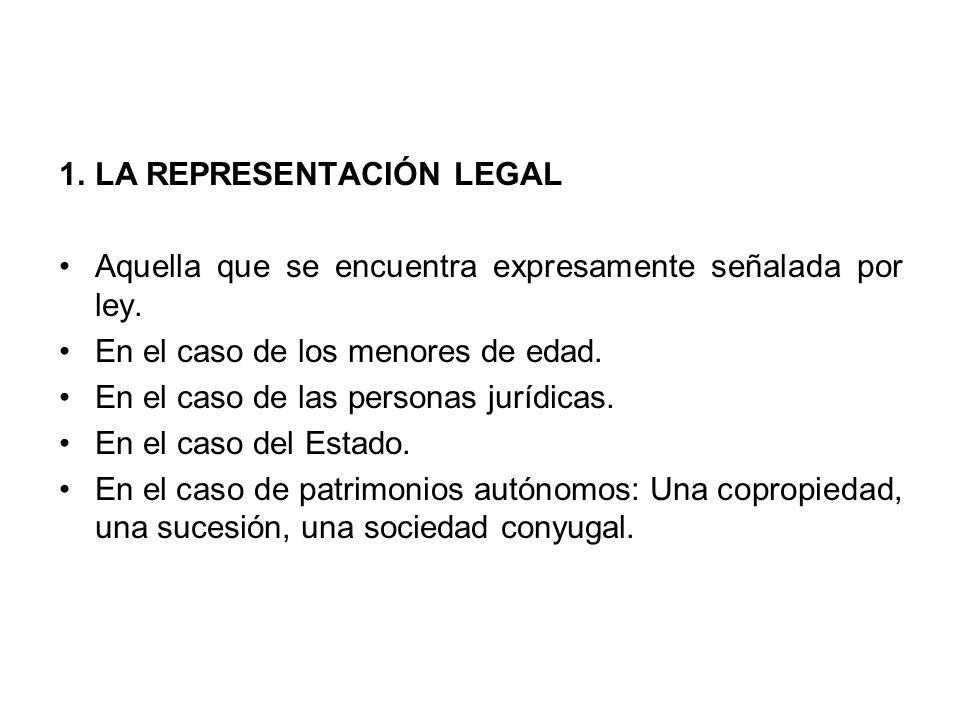 LA REPRESENTACIÓN LEGAL