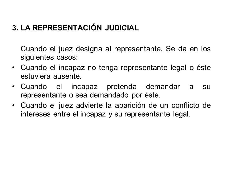 3. LA REPRESENTACIÓN JUDICIAL