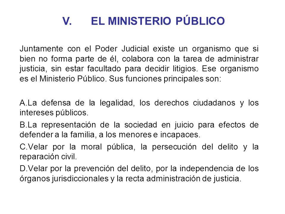 V. EL MINISTERIO PÚBLICO