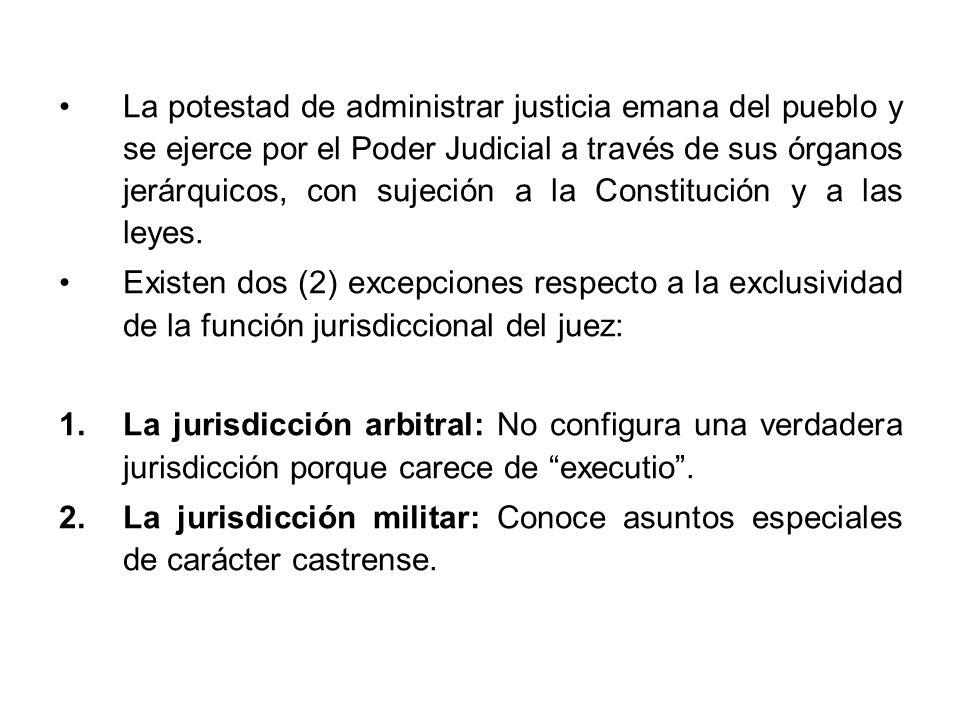 La potestad de administrar justicia emana del pueblo y se ejerce por el Poder Judicial a través de sus órganos jerárquicos, con sujeción a la Constitución y a las leyes.