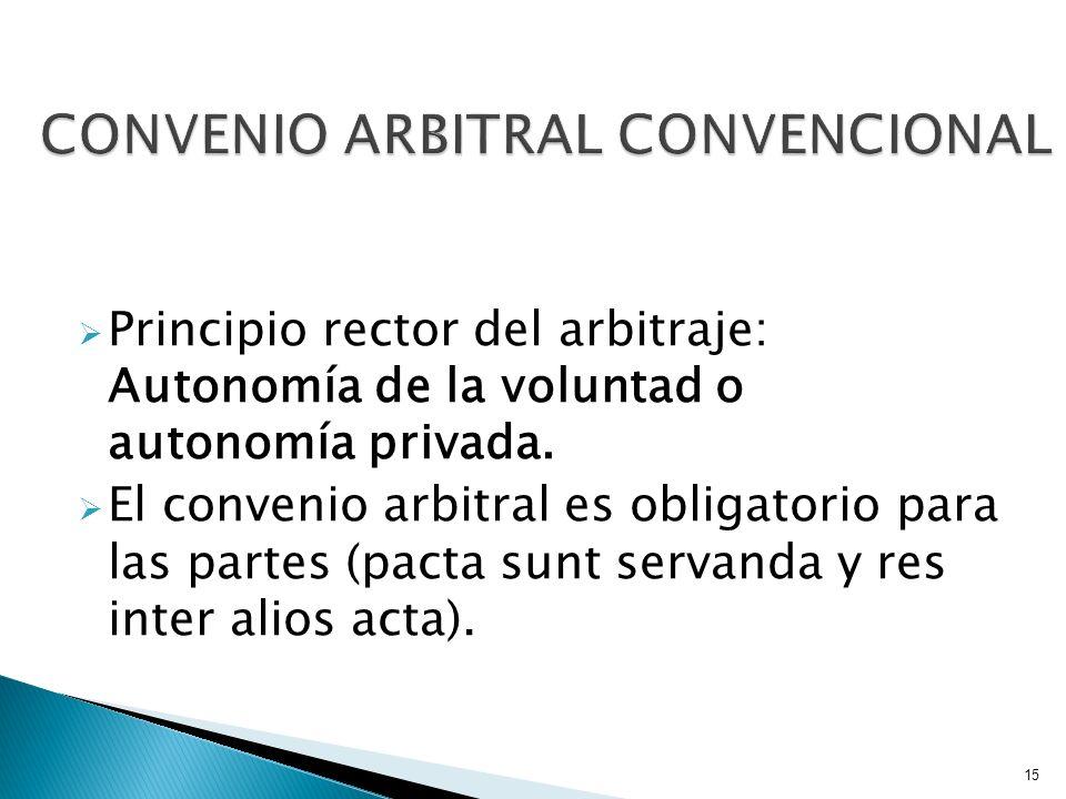 CONVENIO ARBITRAL CONVENCIONAL