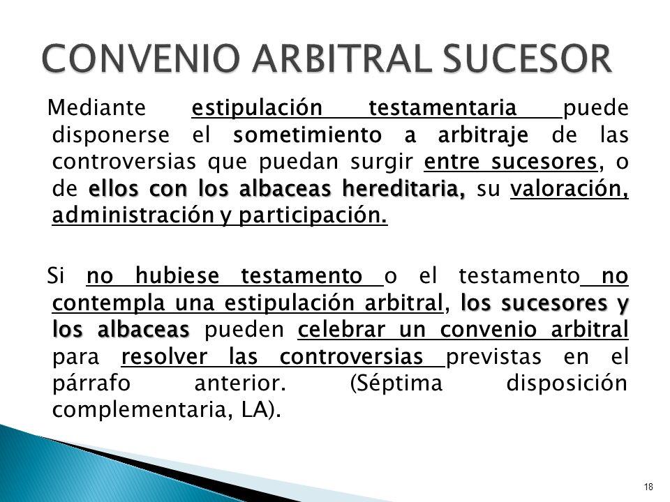 CONVENIO ARBITRAL SUCESOR