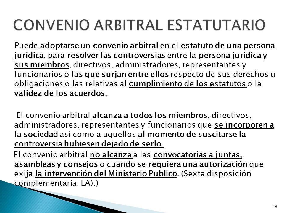 CONVENIO ARBITRAL ESTATUTARIO