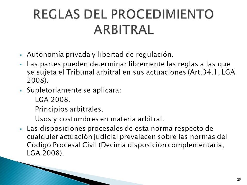 REGLAS DEL PROCEDIMIENTO ARBITRAL