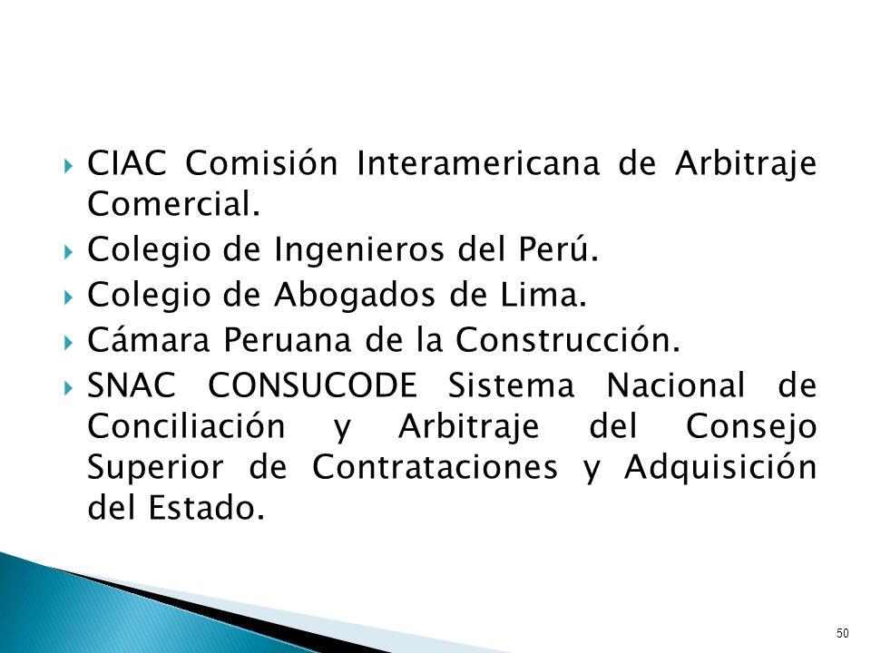 CIAC Comisión Interamericana de Arbitraje Comercial.
