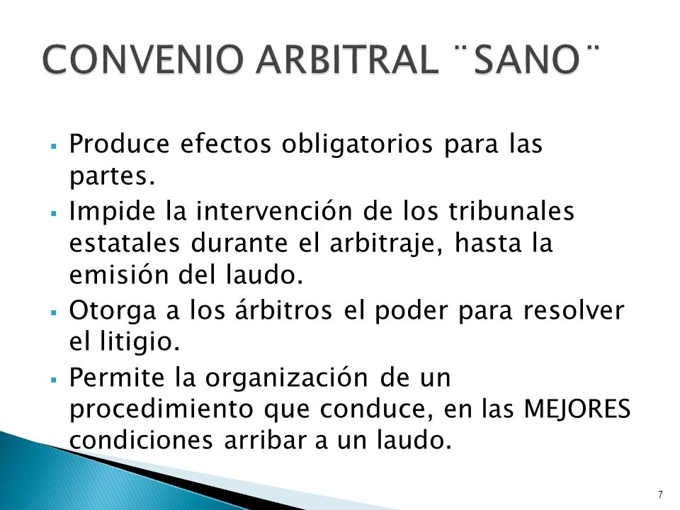 CONVENIO ARBITRAL ¨SANO¨