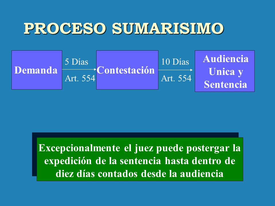 Audiencia Unica y Sentencia