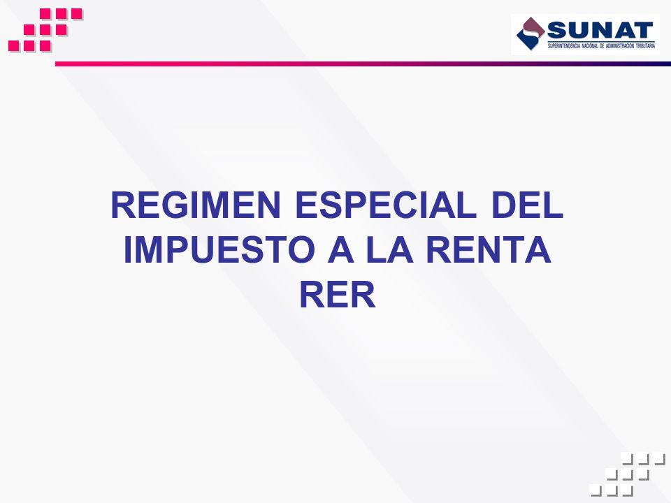 REGIMEN ESPECIAL DEL IMPUESTO A LA RENTA