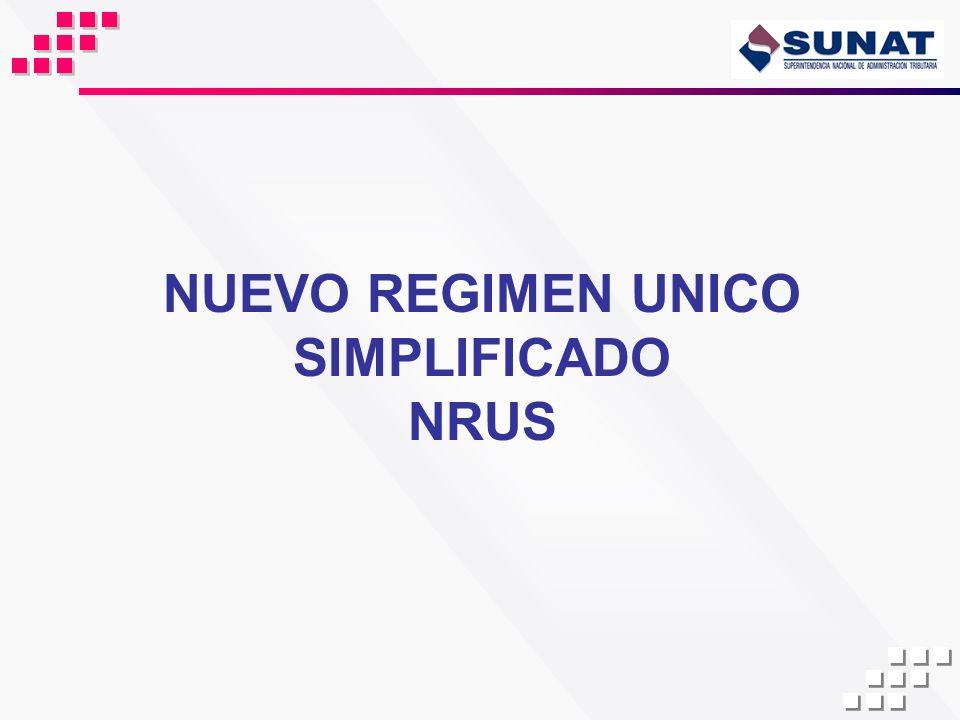 NUEVO REGIMEN UNICO SIMPLIFICADO NRUS