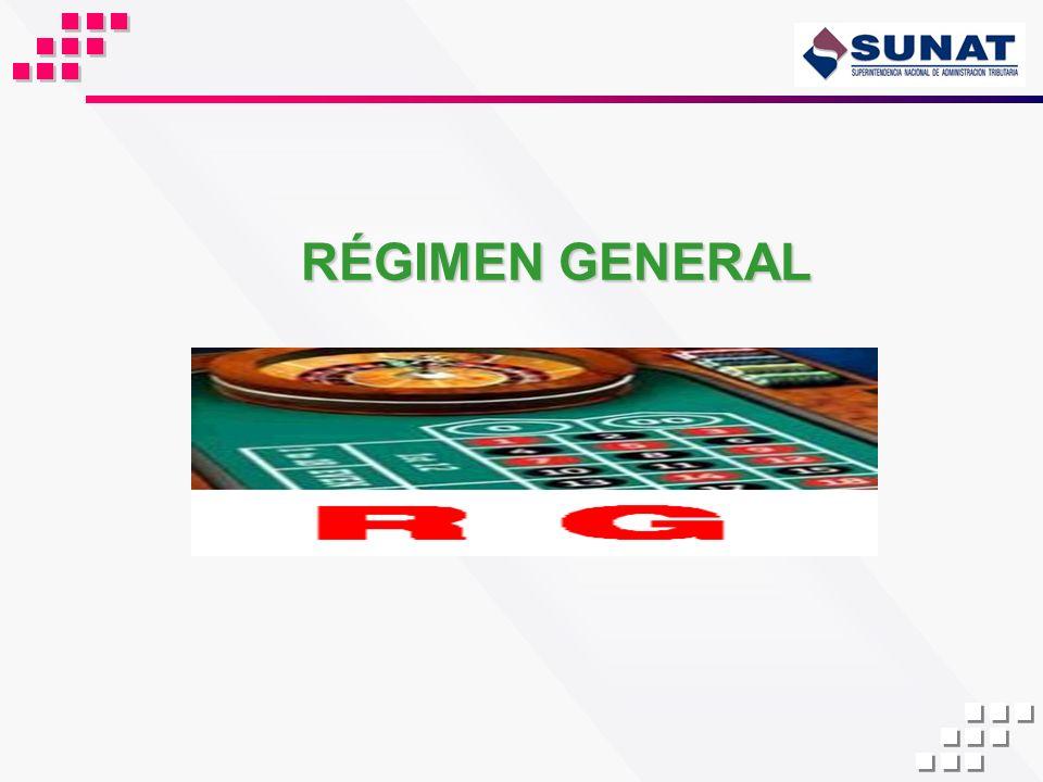 RÉGIMEN GENERAL 25