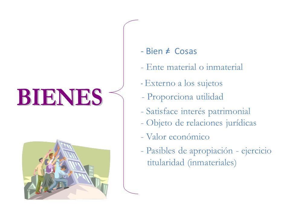 BIENES - Ente material o inmaterial - Valor económico