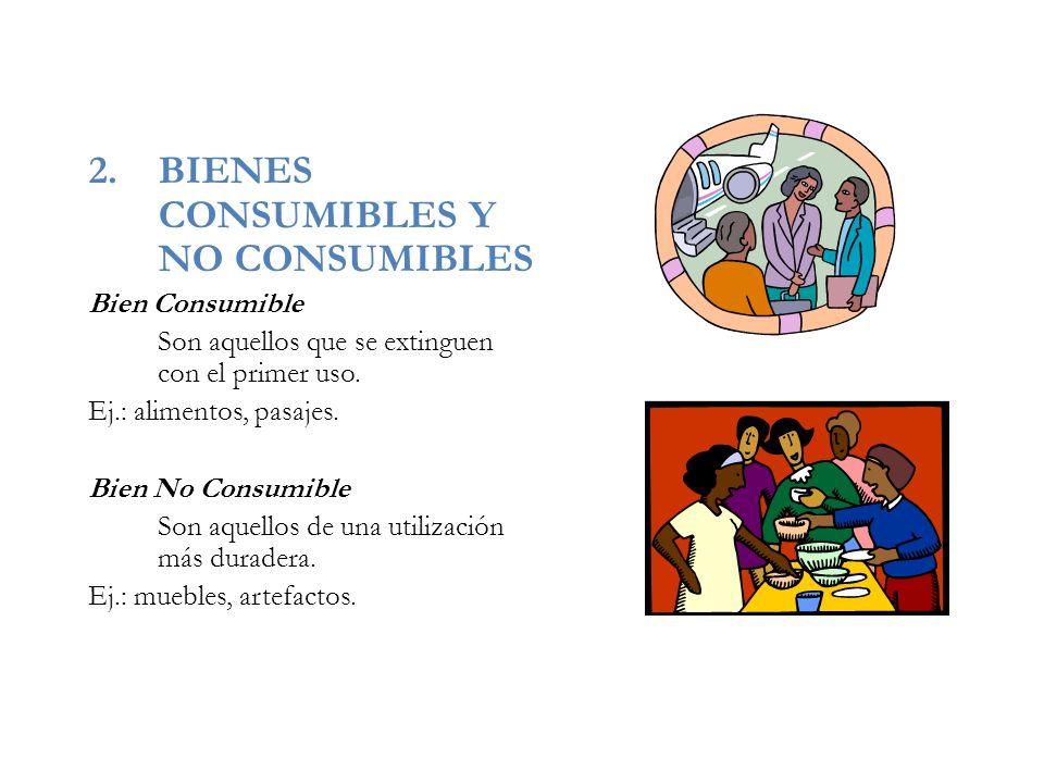 BIENES CONSUMIBLES Y NO CONSUMIBLES