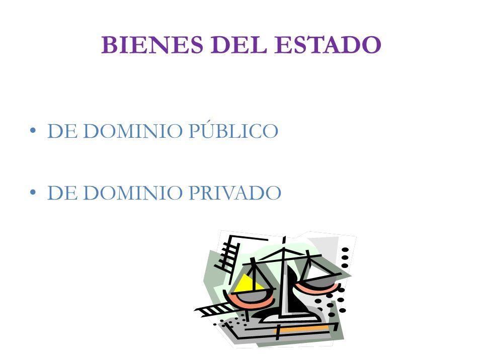 BIENES DEL ESTADO DE DOMINIO PÚBLICO DE DOMINIO PRIVADO