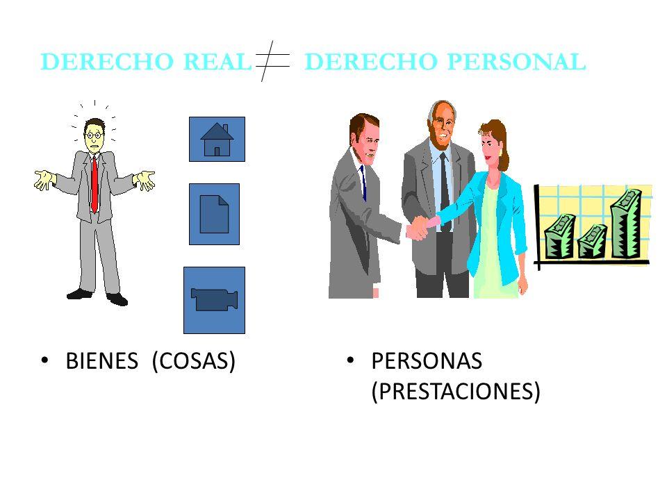 DERECHO REAL DERECHO PERSONAL