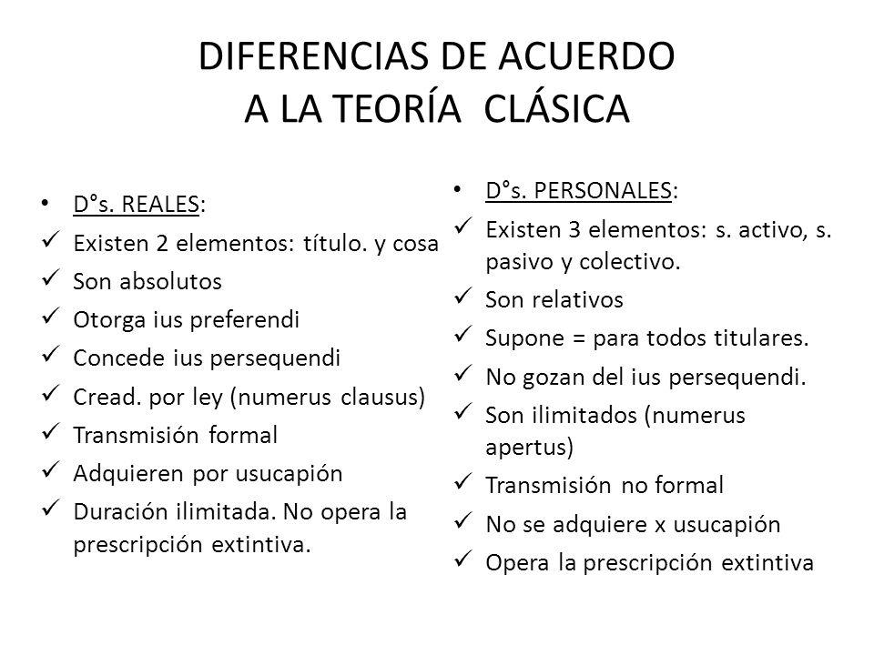 DIFERENCIAS DE ACUERDO A LA TEORÍA CLÁSICA