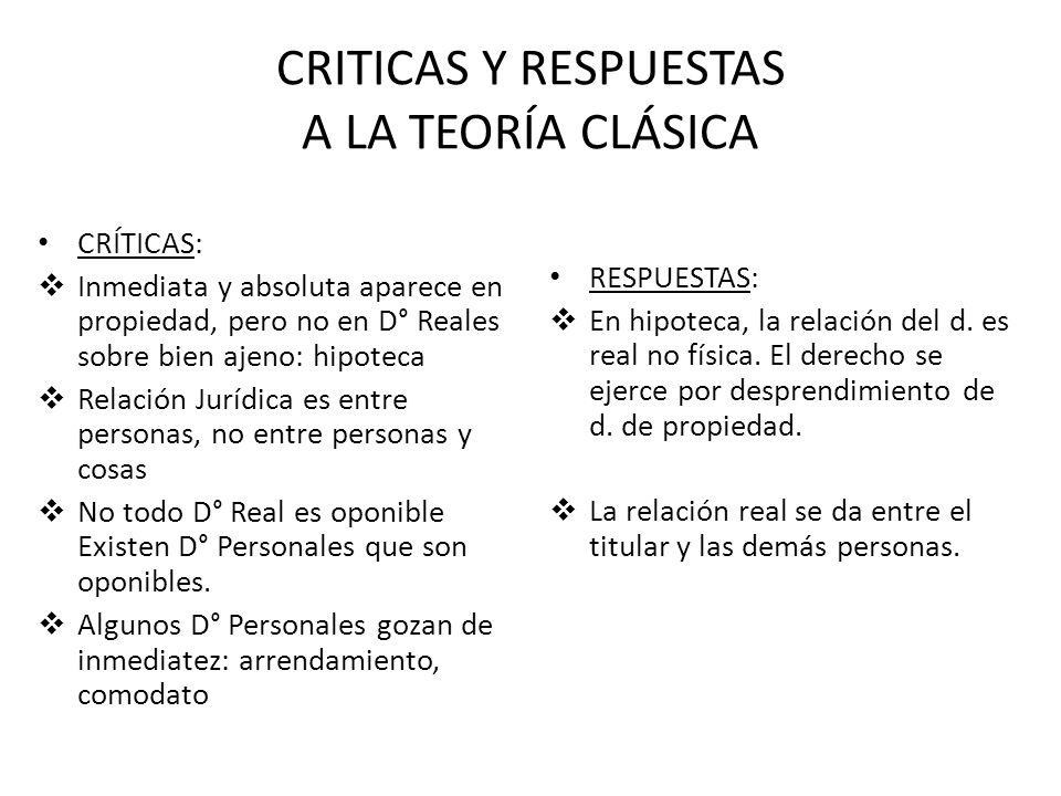 CRITICAS Y RESPUESTAS A LA TEORÍA CLÁSICA