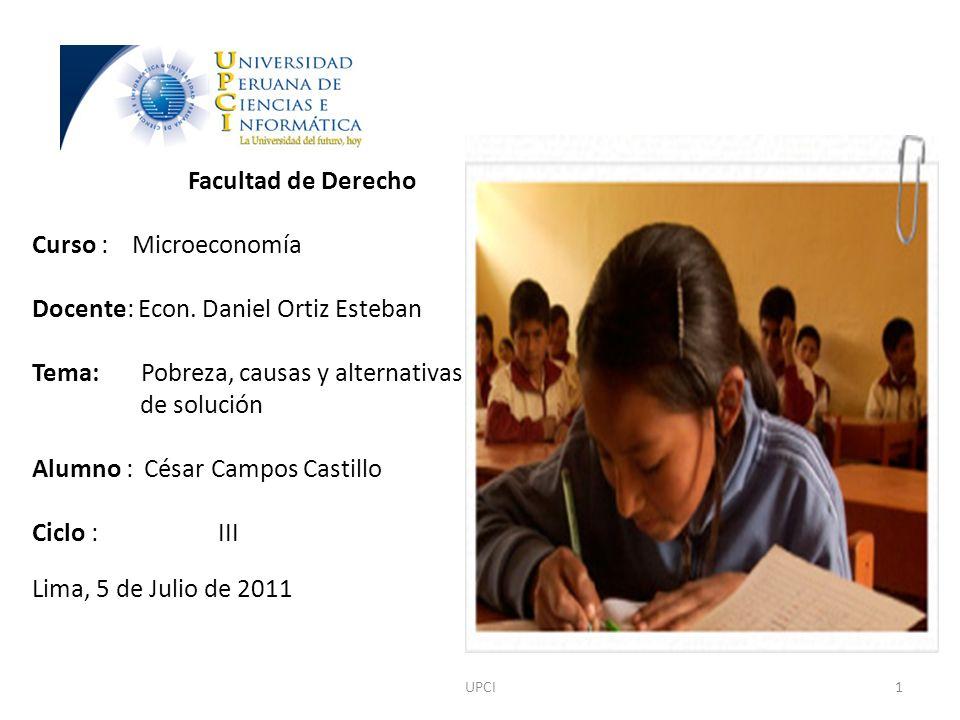 Docente: Econ. Daniel Ortiz Esteban