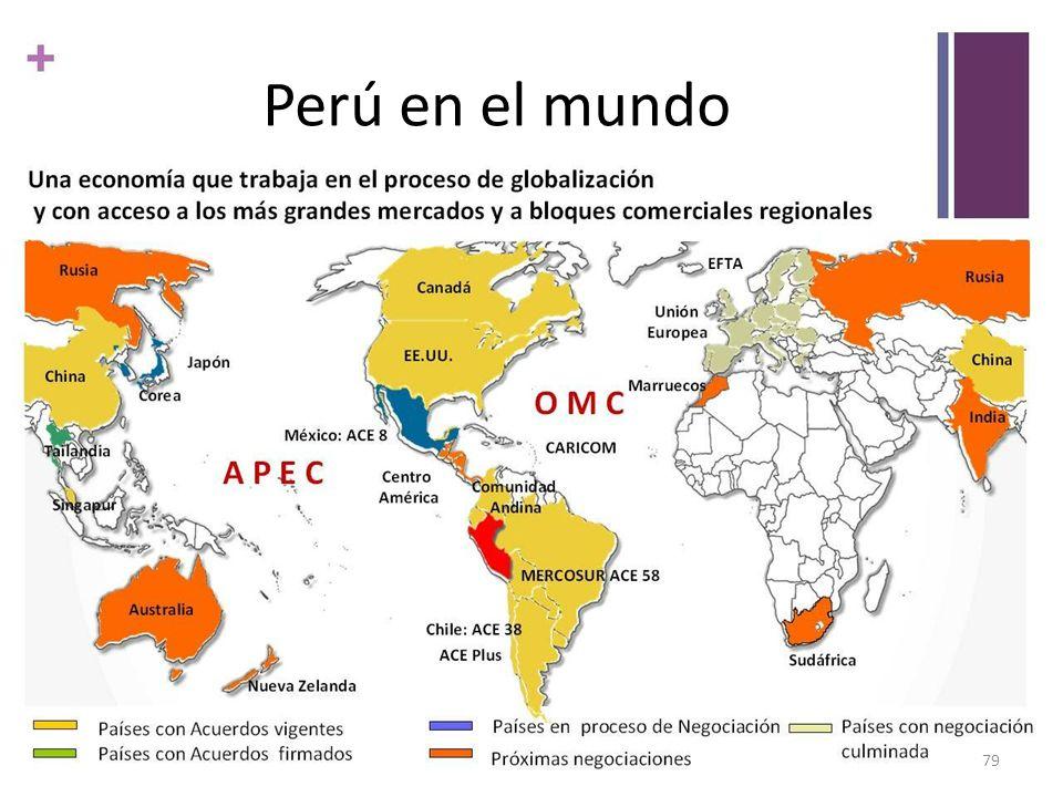 Perú en el mundo Es meta del Perú convertirse en el principal hub de negocios o plataforma exportadora en la región del Pacífico Sudamericano.