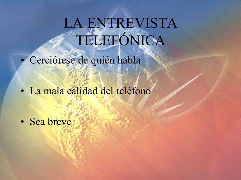 LA ENTREVISTA TELEFÓNICA