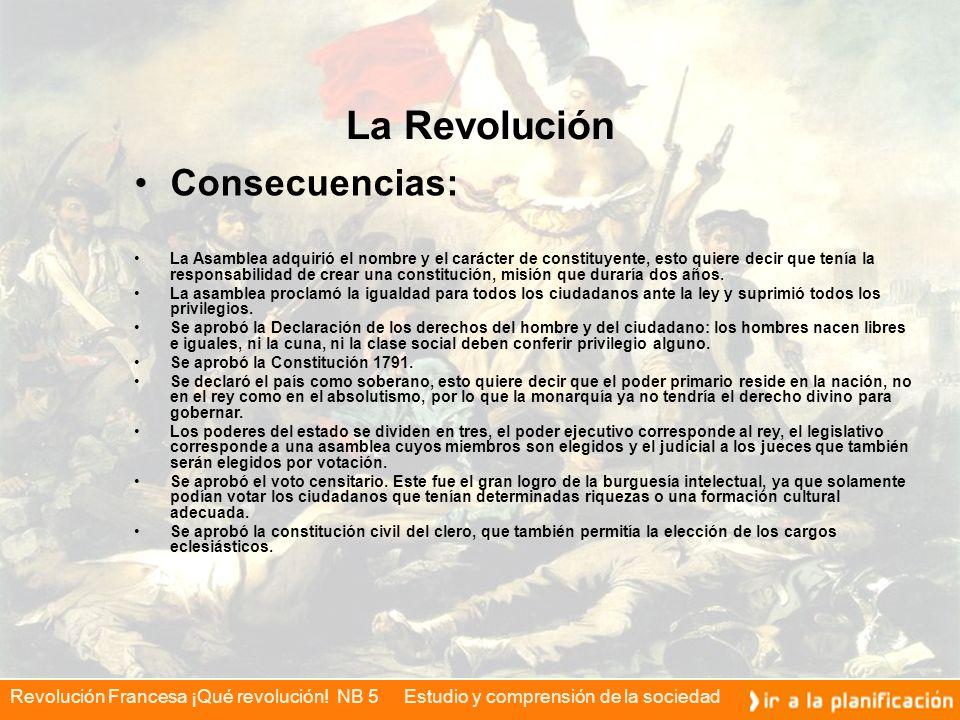 La Revolución Consecuencias: