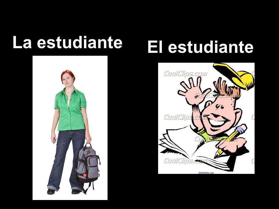 La estudiante El estudiante