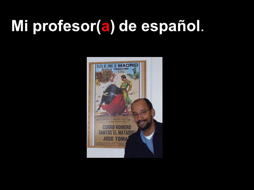 Mi profesor(a) de español.